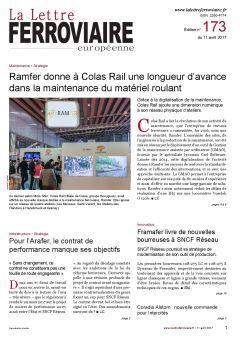 À lire dans La Lettre ferroviaire 173
