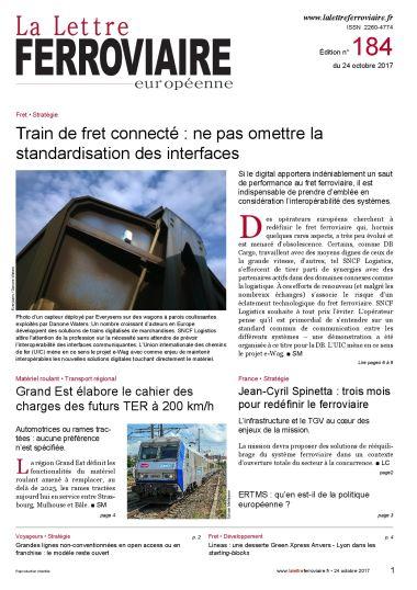 À lire dans La Lettre ferroviaire 184