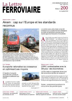À lire dans La Lettre ferroviaire 200