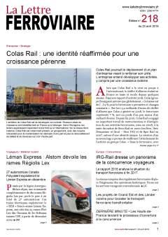 À lire dans La Lettre ferroviaire 218