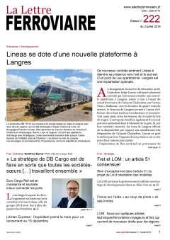 À lire dans La Lettre ferroviaire 222