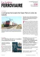 À lire dans La Lettre ferroviaire 230