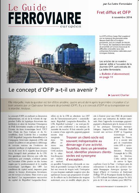 Spécial OFP - 6 novembre 2014